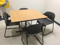 "Break Room Table (42"" Square) And 4 Chairs 