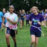 Summer Camp Ballfield Girl Counselor Camper