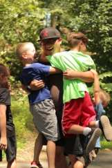 Summer Camp Boy Counselor Campers