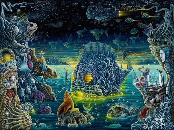 Dark Trippy Psychedelic Art