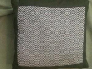 Overshot pillow by Jodi Paley