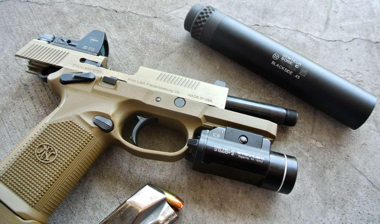 FNP 45 GEMTECH Blackside .45 Suppressor