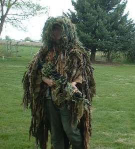 Living on a farm makes building ghillie suits a snap