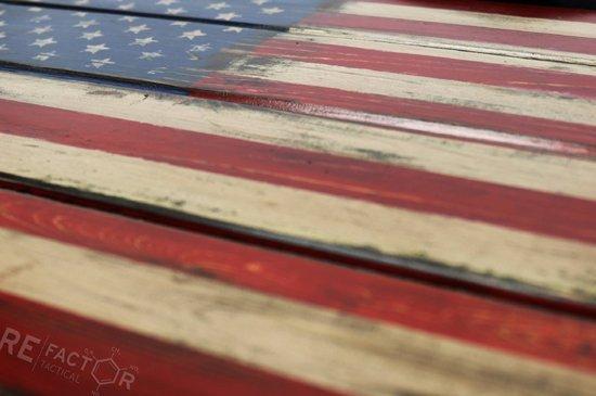 American Flag Wood