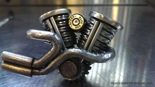 tigger welding piston art
