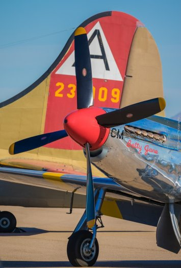 P51 mustang with b25