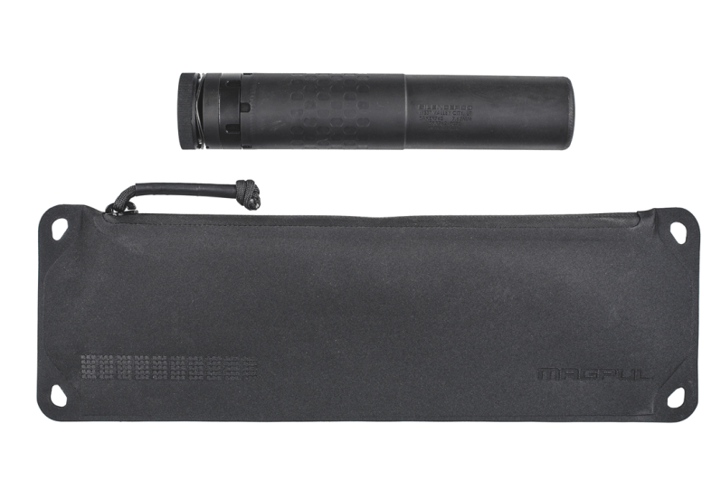 Large Magpul DAKA Suppressor Pouch with Suppressor above