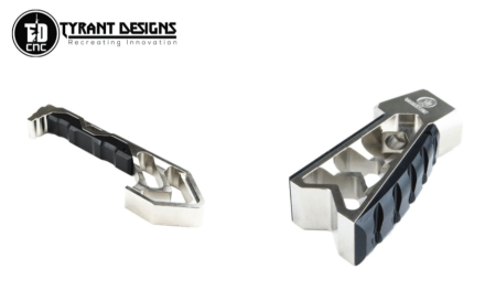 Teaser for Tyrant Designs Nickle MOD grip and MOD foregrip