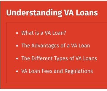 Unerstanding VA Loans