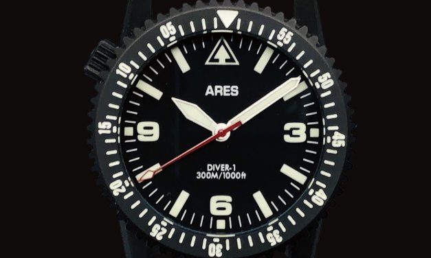 Ares Watch Co. DIVER-1B in PVD Deep Black