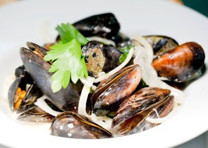 Mussels to eat at Blacks of Chapel Street
