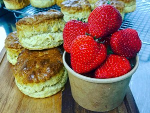 Cornish Strawberries and Scones