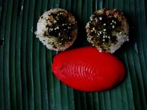 iron fire riceballs and red thumbkway