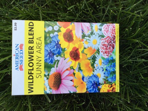American seeds Wildflower blend sunny area seed package