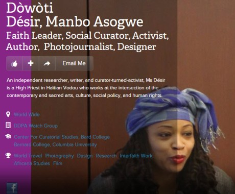 Sister Manbo Dowoti Desir