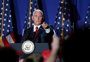 Vice President Pence says, 'The Bible stays' at veterans hospital facing lawsuit