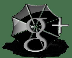 Google+ Black Umbrella