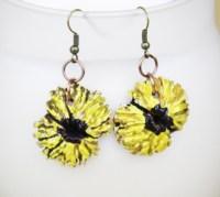 Yellow sunflower earrings - Black Walnut Ridge by Kristine ...