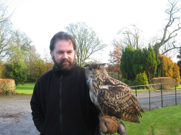 Eagle Owl at the Castle