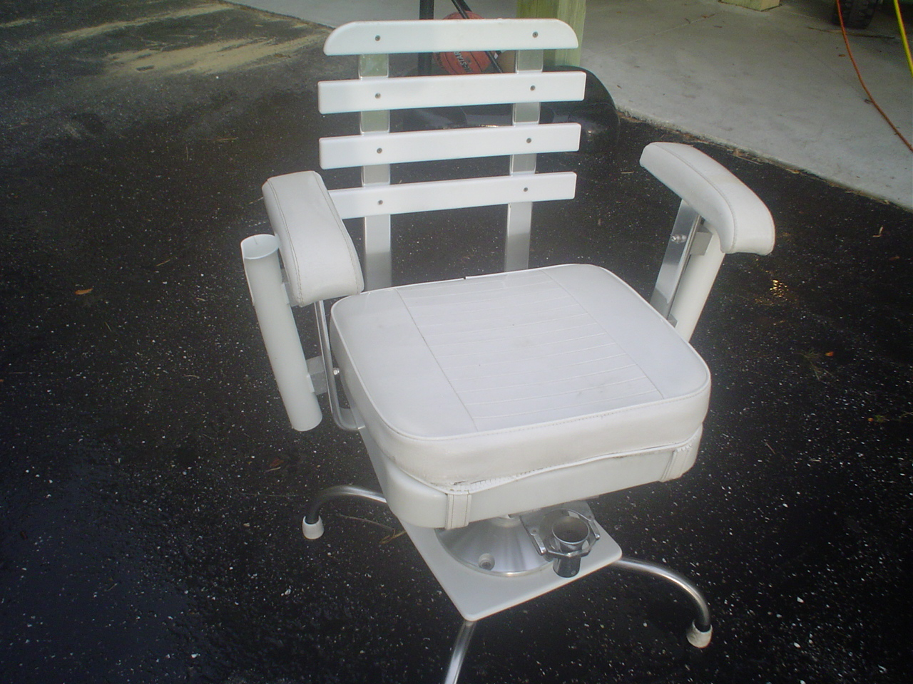 fishing chair gimbal studded dining chairs todd deck fighing the hull truth boating and