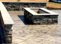 Rectangular Custom Stone Fire Pit   Blackwater Concrete