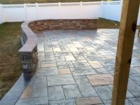 Stamped Patio and Decorative Knee Wall | Blackwater