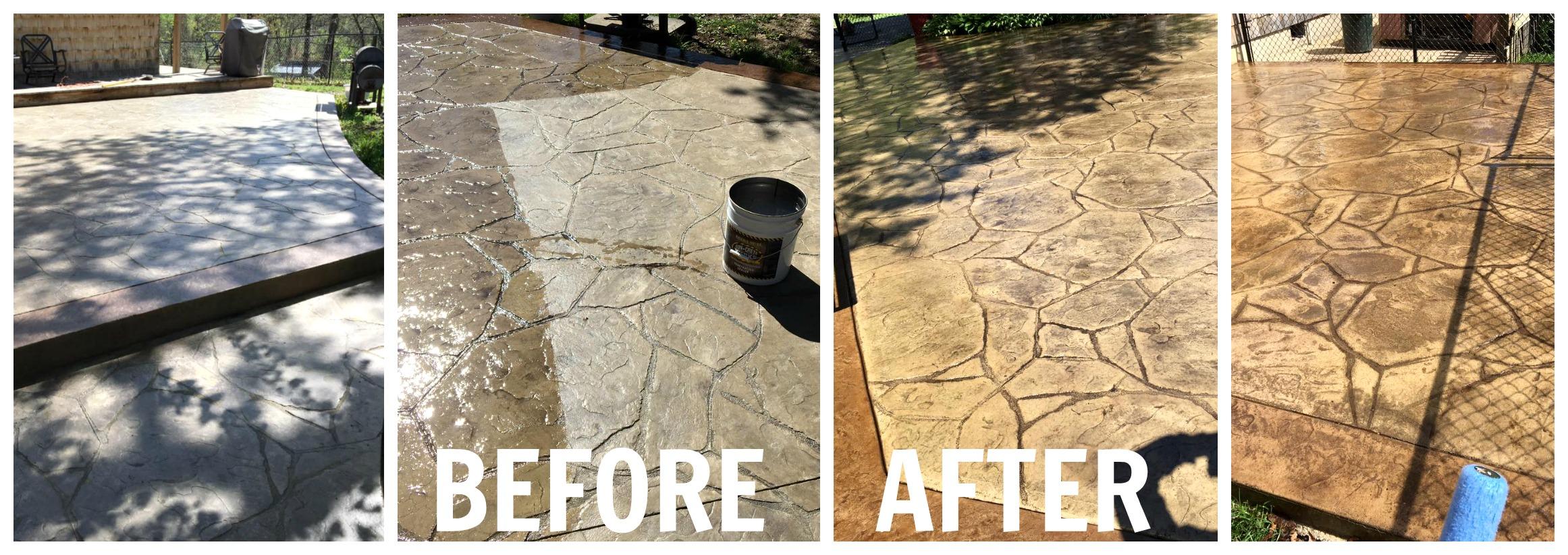 stamped concrete maintenance