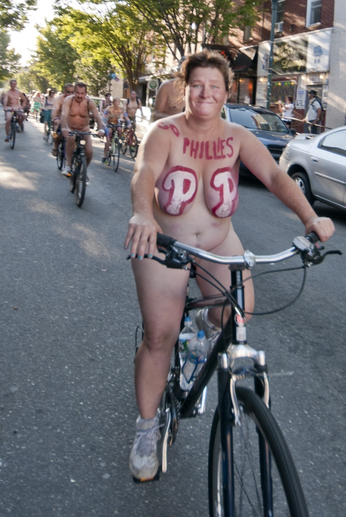 Philly Naked Bike Ride 2013 PNBR  Black White and Raw