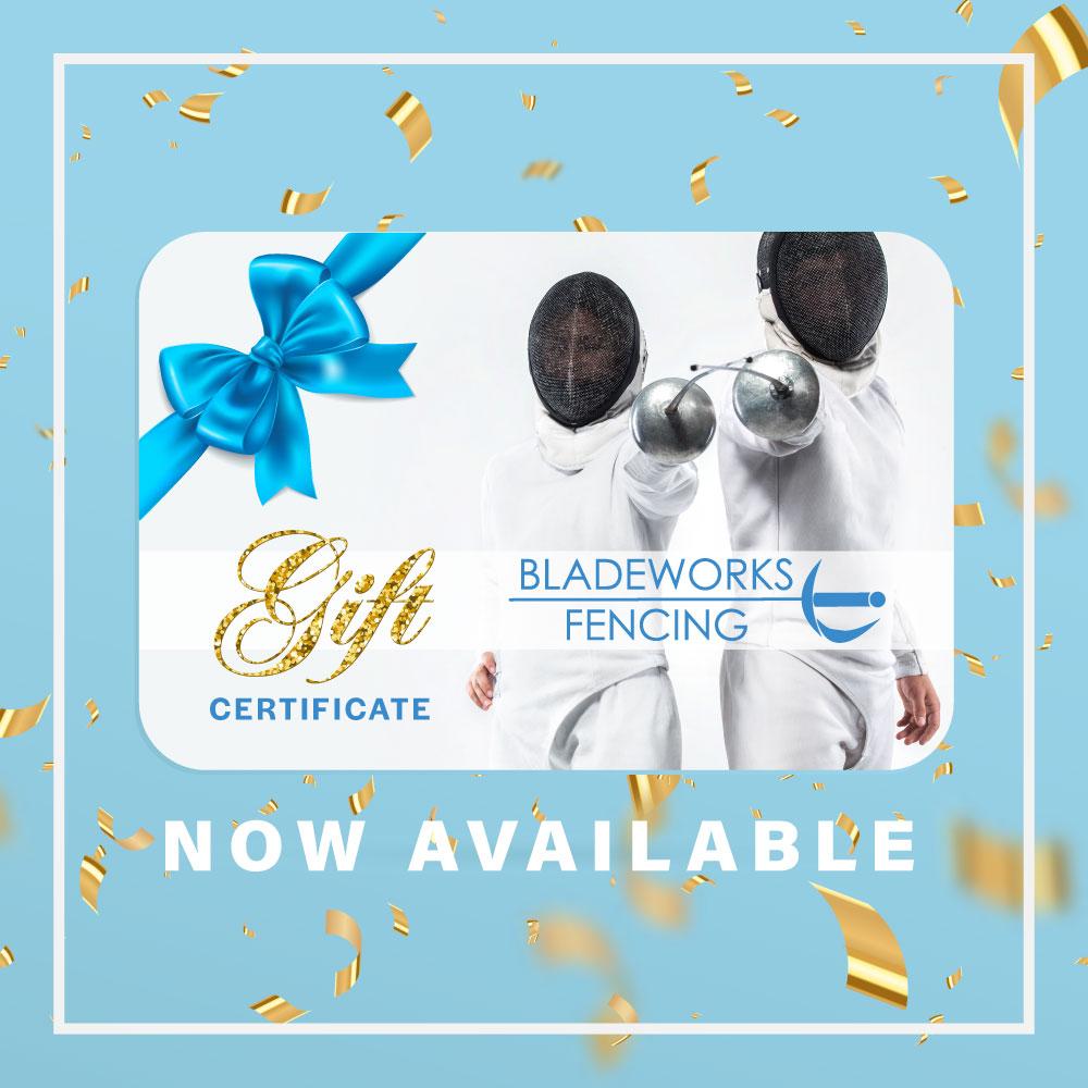 Bladeworks Fencing Club gift certificate