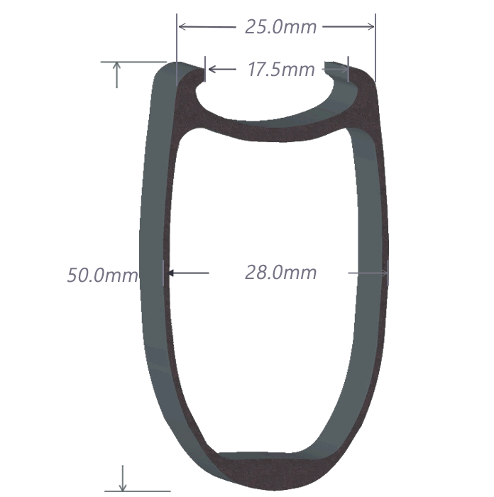 SDM 5 Carbon Rim Shape