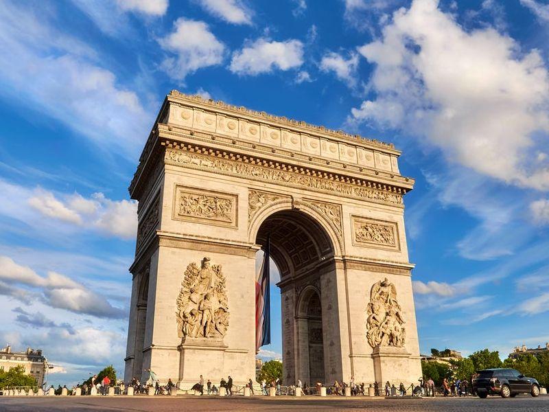 arc de triomphe, paris, perancis