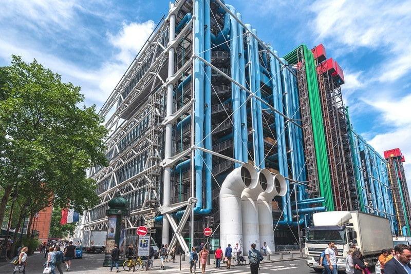 centre georges pompidou, paris, perancis