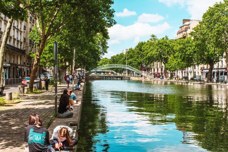 saint-martin canal, paris, perancis