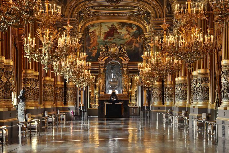 palais garnier, paris, perancis
