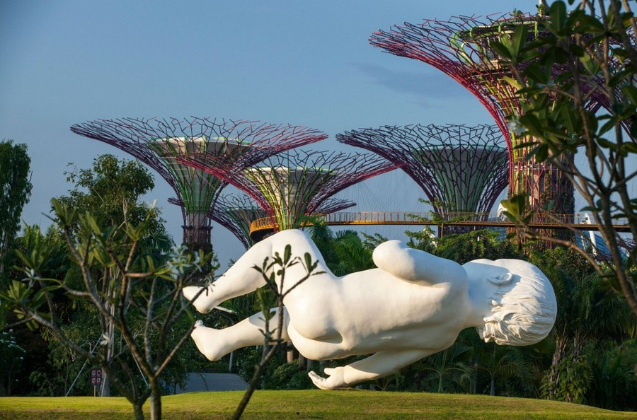 sculpture gardens by the bay, gardens by the bay, singapura