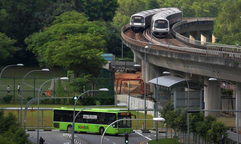 mrt dan transportasi umum singapura