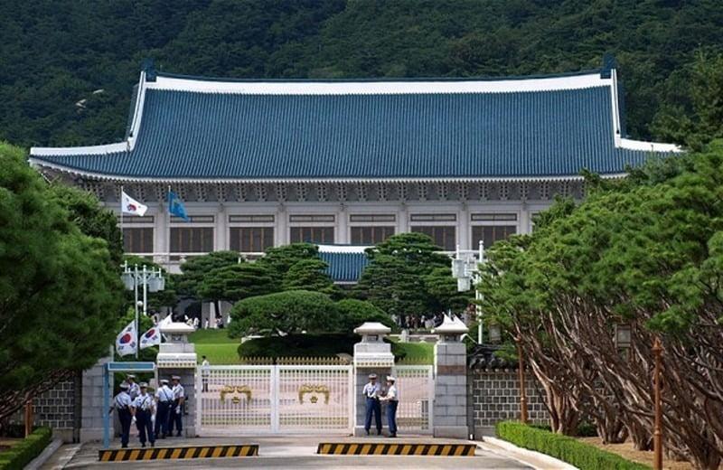 istana kepresidenan blue house korea selatan