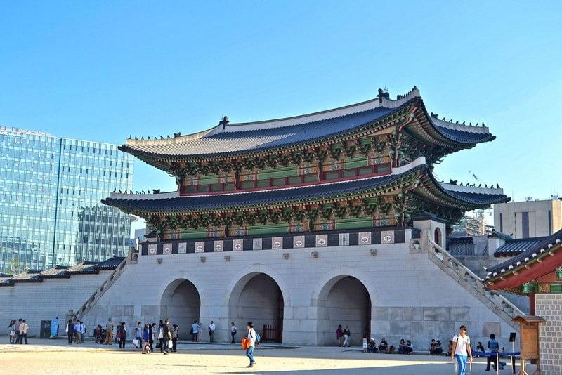 Gwanghwamun Gate, Korea Selatan