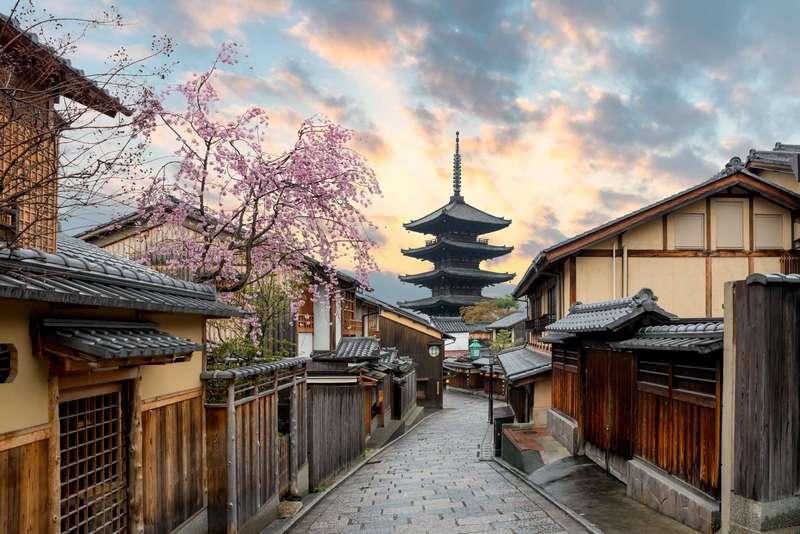 kawasan rumah kuno di kyoto, jepang