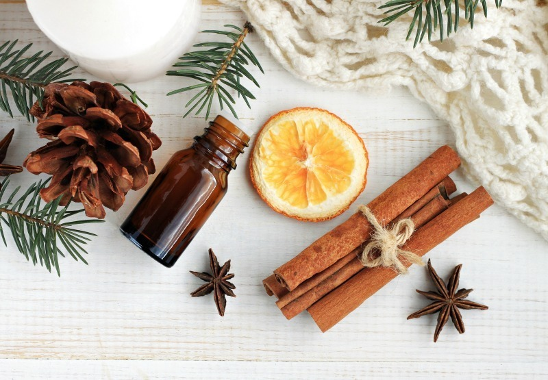 star anise, cinnamon dan orange untuk essential oil
