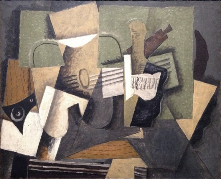 """Georges Braque, """"Rum and Guitar,"""" 1918"""