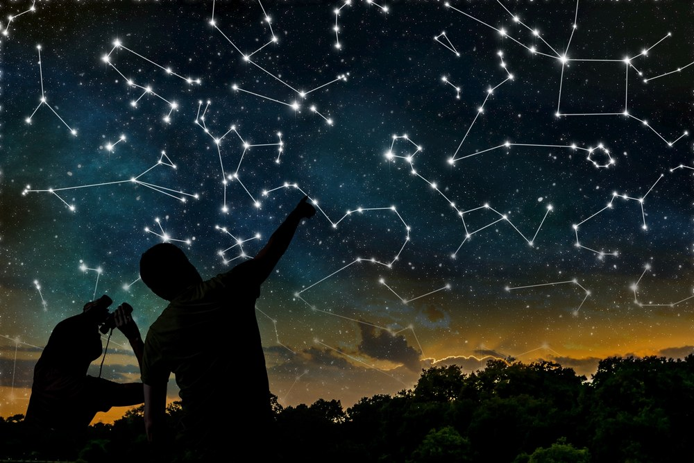 bermacam rasi bintang di langit malam