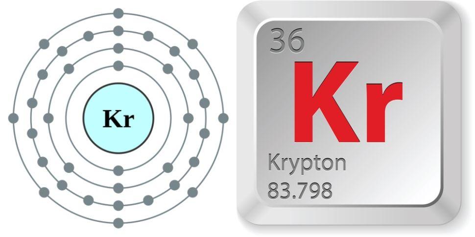 simbol kimia dan nomor atom unsur kripton
