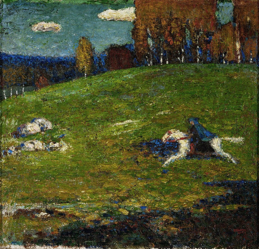 The Blue Rider, by Wassily Kandinsky