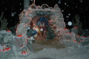 Ледяной рождественский вертеп