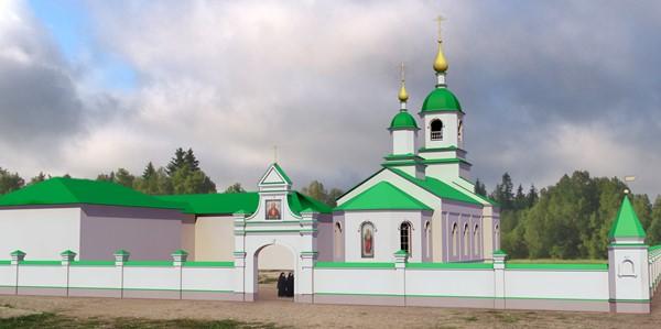 Освящение храма в Среднебелой-А4