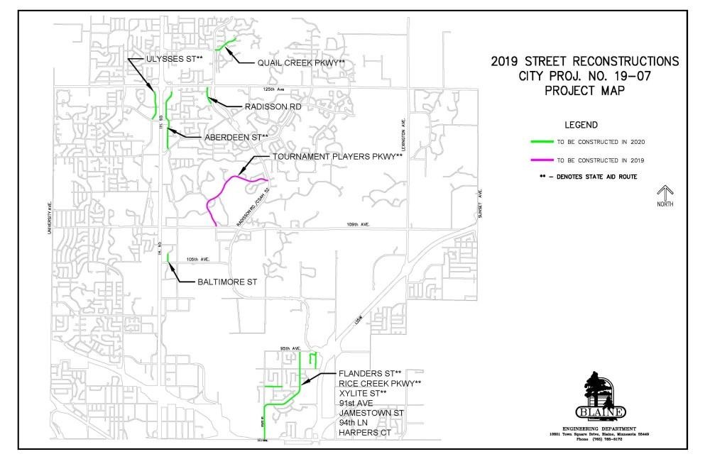 medium resolution of 19 07 2019 2020 street reconstructions location map