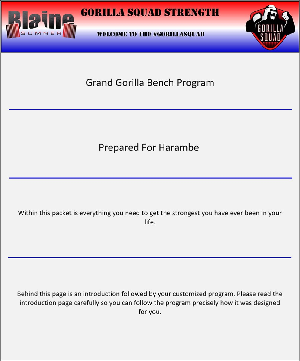 The Grand Gorilla Bench 3