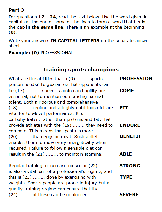 The 8 Parts Of The CAE Reading & Use Of English Exam