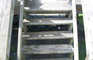 Deck - Before remodel